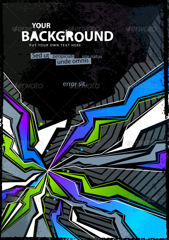 Cool abstract graffiti background - Vectors