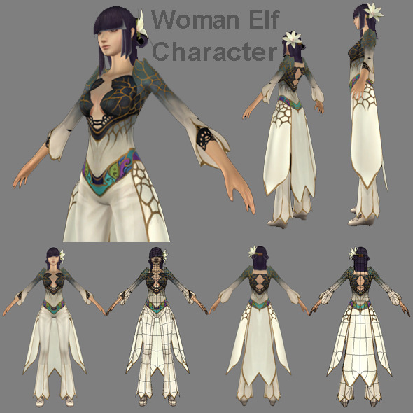 3DOcean Woman Elf Character 478104