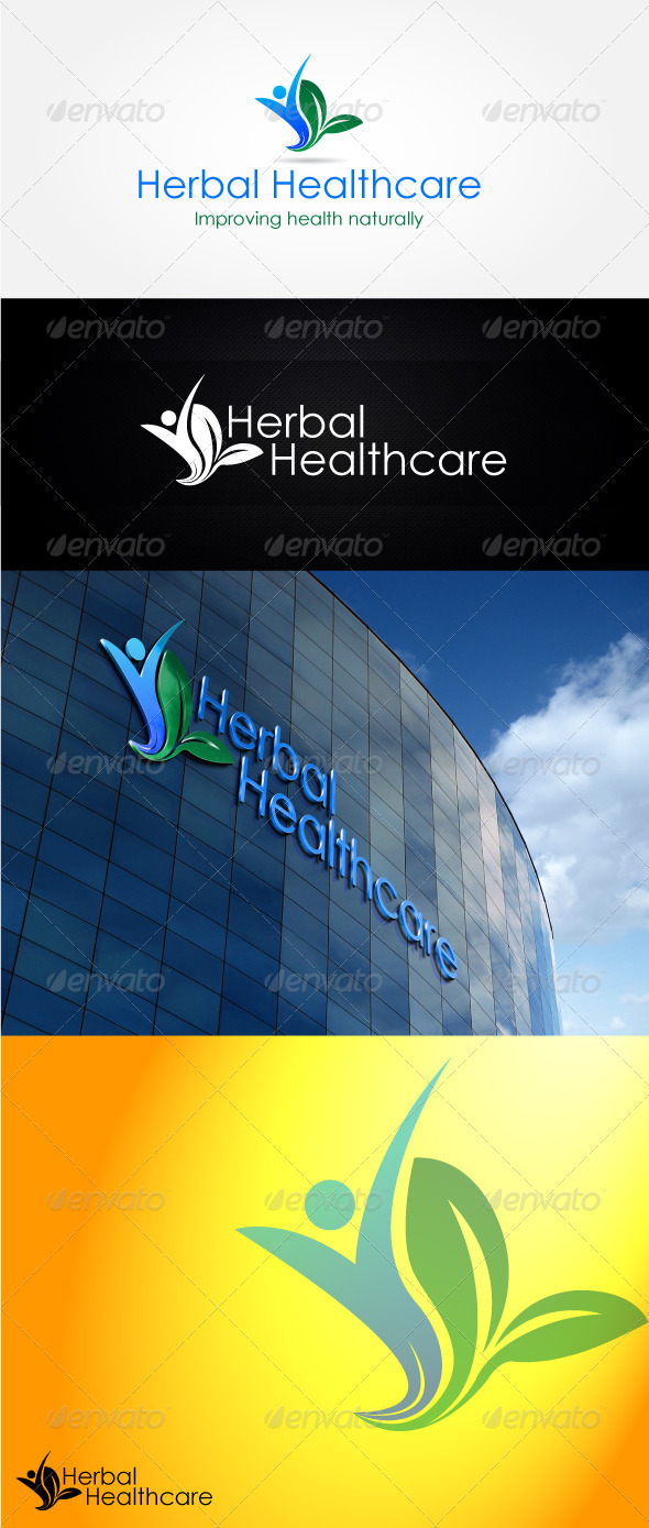 GraphicRiver Herbal Healthcare Logo Design 4541780