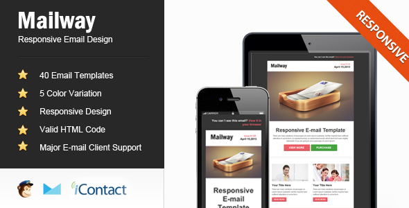 Mailway - Responsive E-mail Template - Email Templates Marketing
