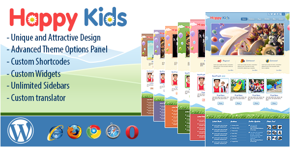 Happy Kids wordpress theme download