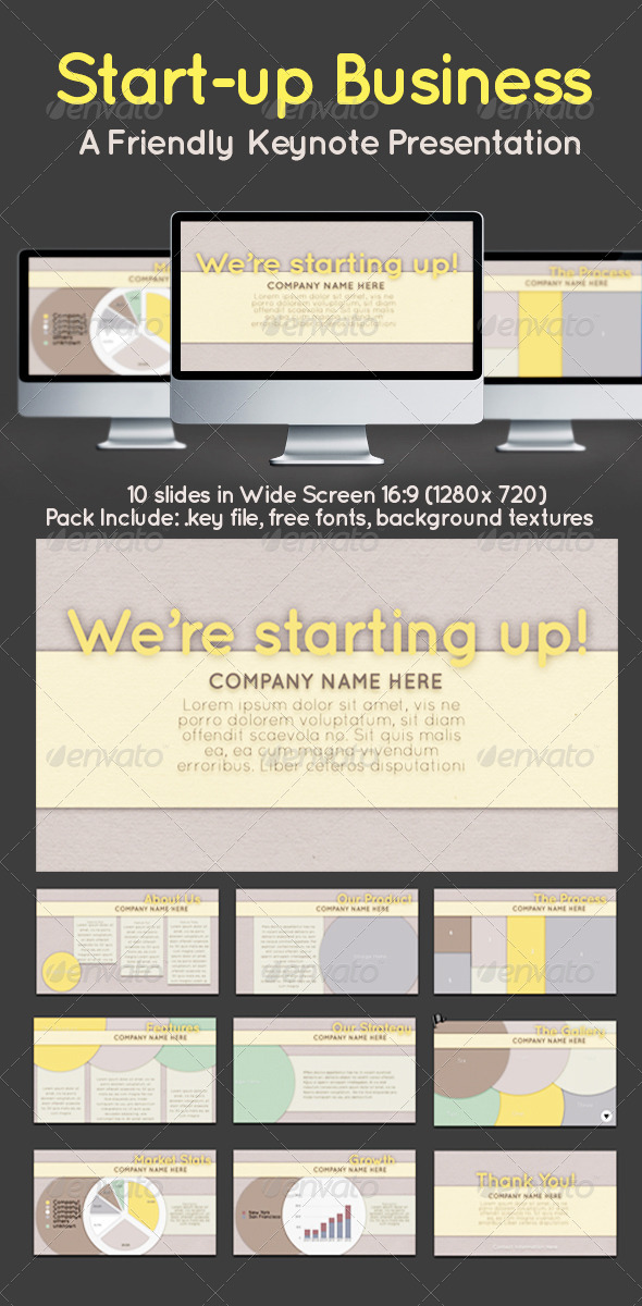 GraphicRiver Start Up Business Simple Keynote Presentation 4379563