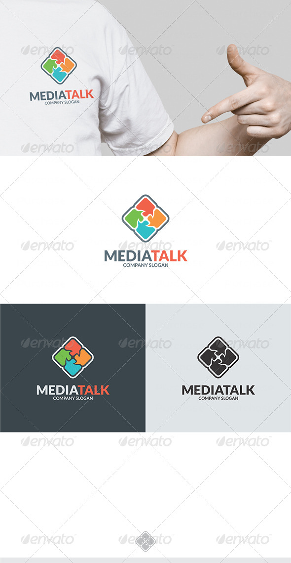 Media Talk Logo - Vector Abstract