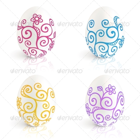 GraphicRiver Ornate Easter Eggs Vector Set 4543347