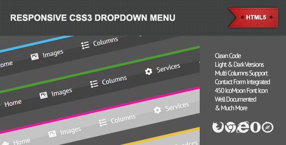 CodeCanyon Responsive CSS3 Dropdown Menu 4543402
