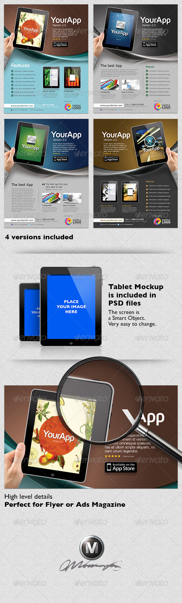 Multipurpose Mobile App Flyer Template - Commerce Flyers