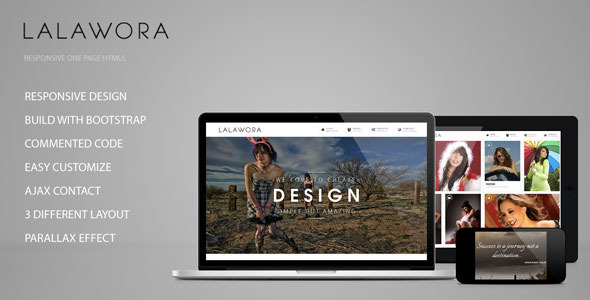 ThemeForest Lalawora One Page HTML5 4535290