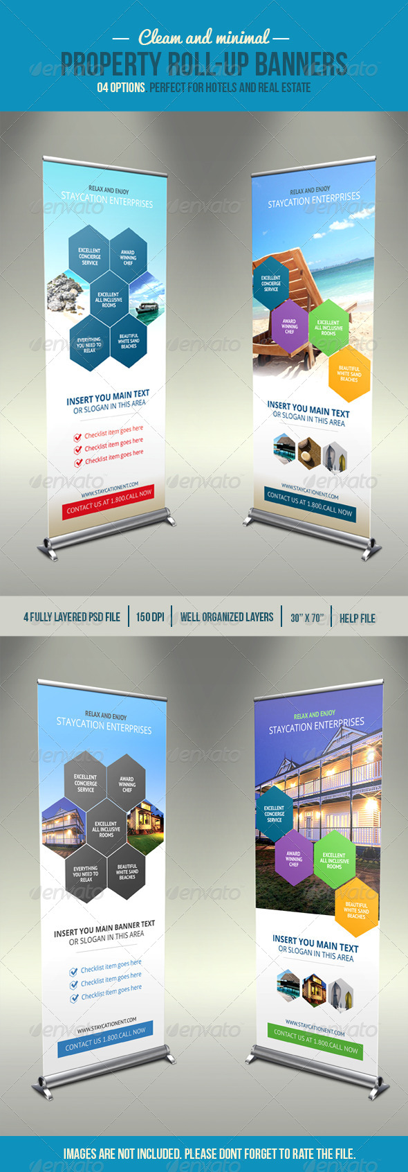 GraphicRiver Hexa Property Roll-Up Banner 4463089