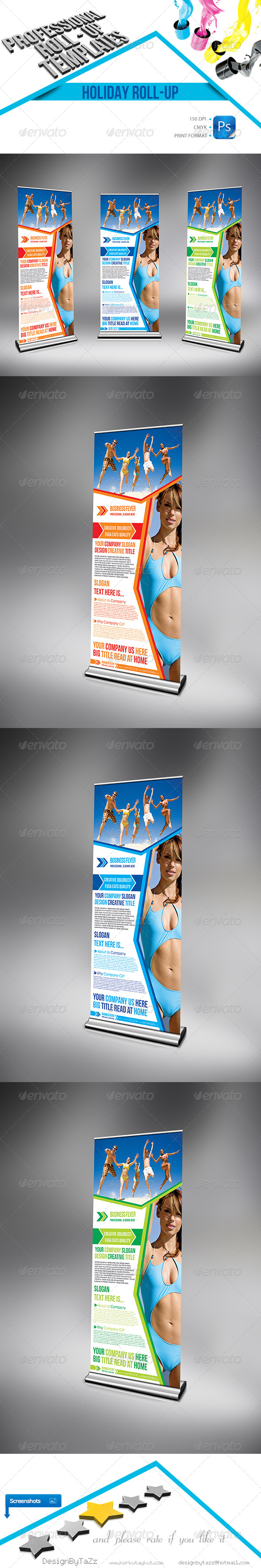 GraphicRiver Holiday Business Roll-Up 4473146