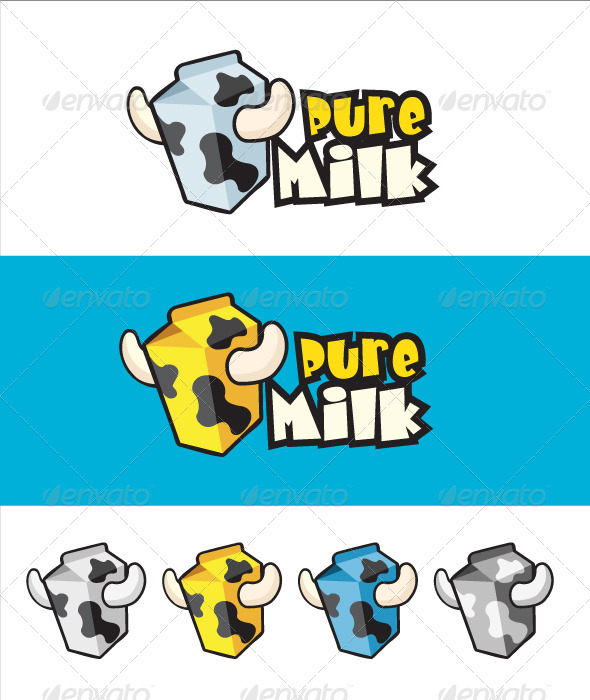 GraphicRiver Pure Milk Logo 4508845