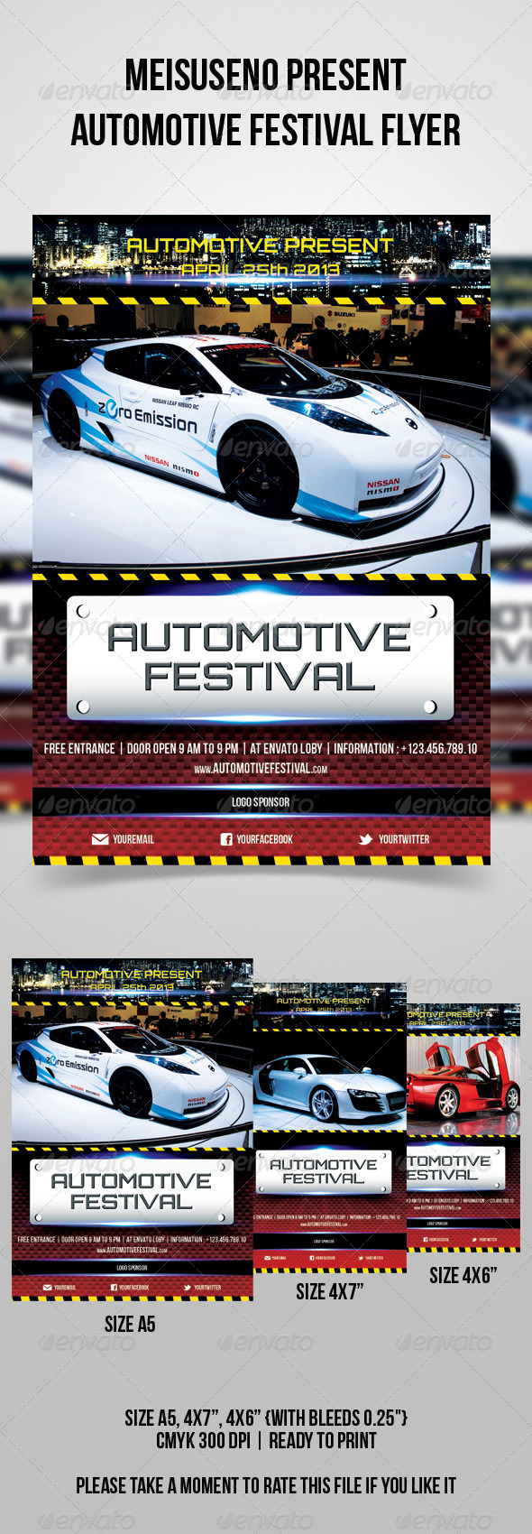 Automotive Festival Flyer - Sports Events