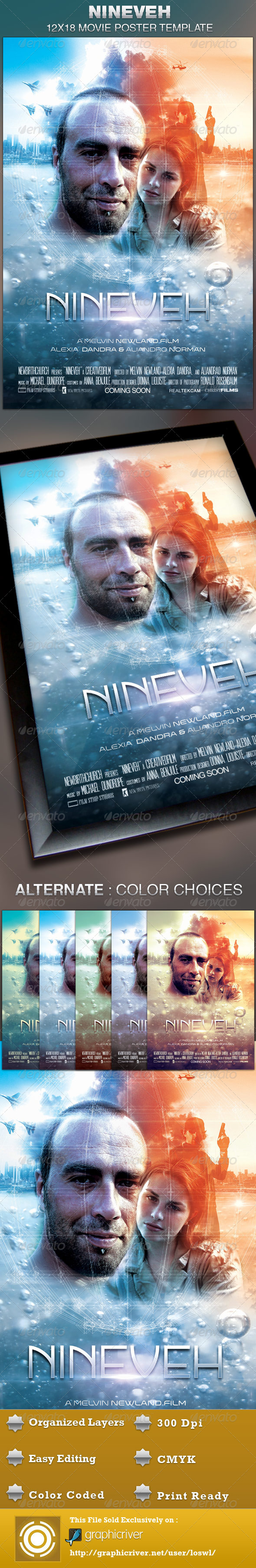 Nineveh Movie Poster Template - Church Flyers