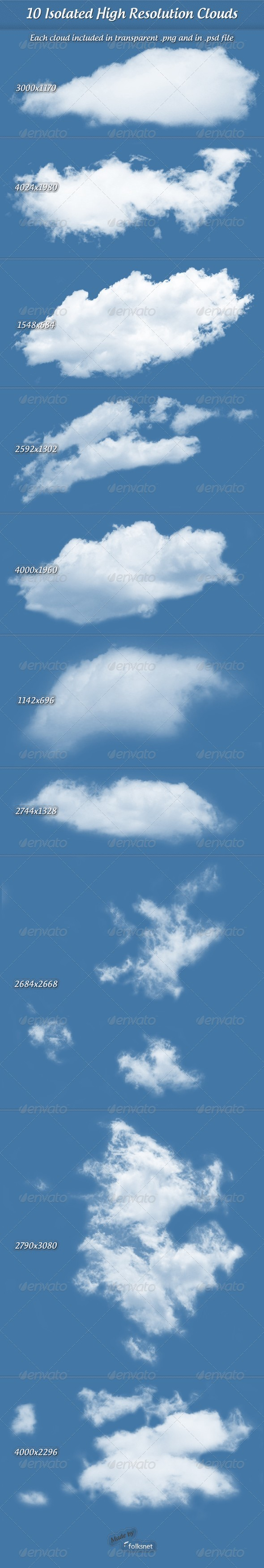Clouds - Nature & Animals Isolated Objects