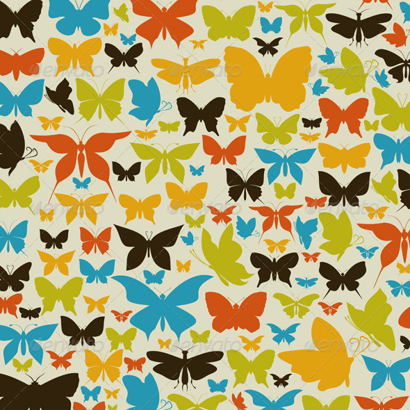 GraphicRiver Background the butterfly2 4545399