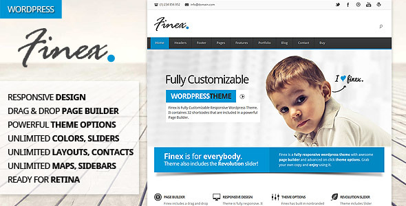 Finex - Responsive Multi-Purpose Wordpress Theme