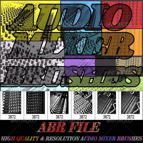 GraphicRiver Audio Mixer Brushes 4545895