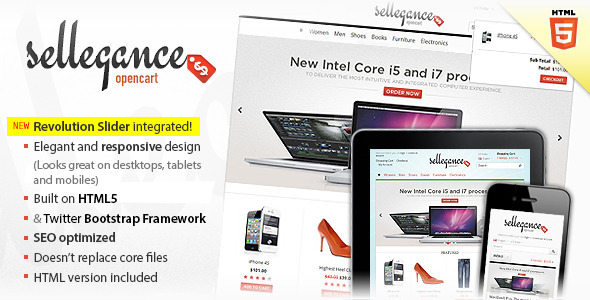 Sellegance - Responsive and Clean OpenCart Theme - OpenCart eCommerce