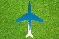 Plane icon with grass and sky - PhotoDune Item for Sale