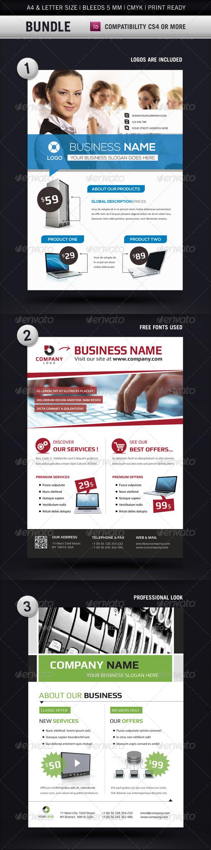 GraphicRiver Business Flyer Templates A4 & Letter Bundle 4472933