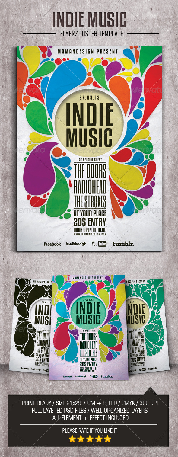 Indie Music Flyer/Poser - Flyers Print Templates