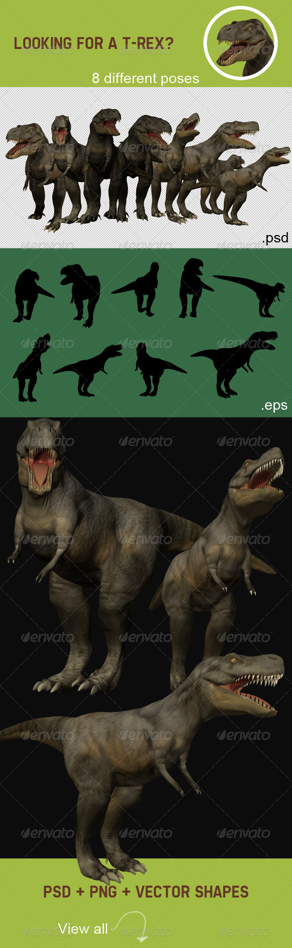 GraphicRiver T-Rex Renders 4480851