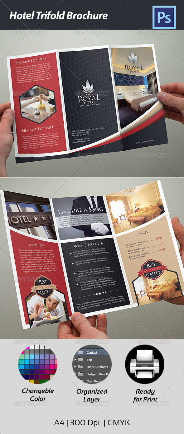 brochure templates mac - free psd flyer hotel
