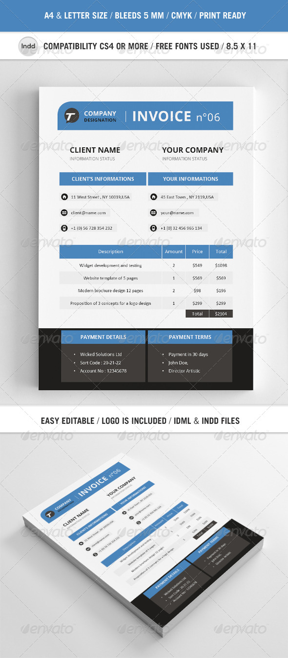 GraphicRiver Professional Invoice Template A4 4546922