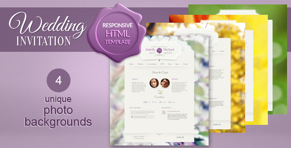Wedding Invitation - Premium WordPress Theme