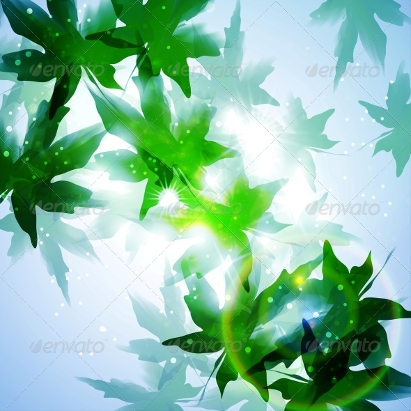 GraphicRiver Leaves Background 4548573