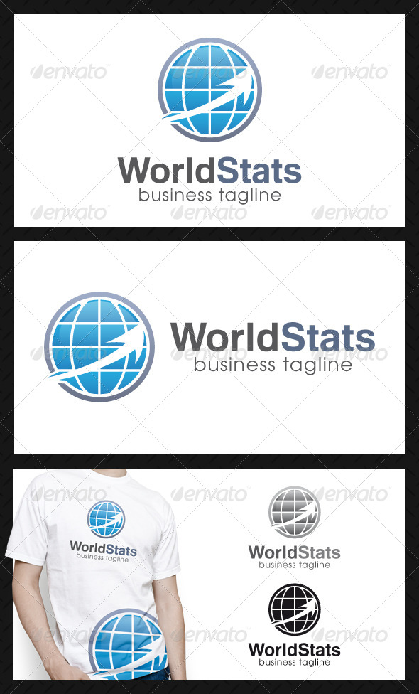 GraphicRiver World Stats Logo Template 4507235