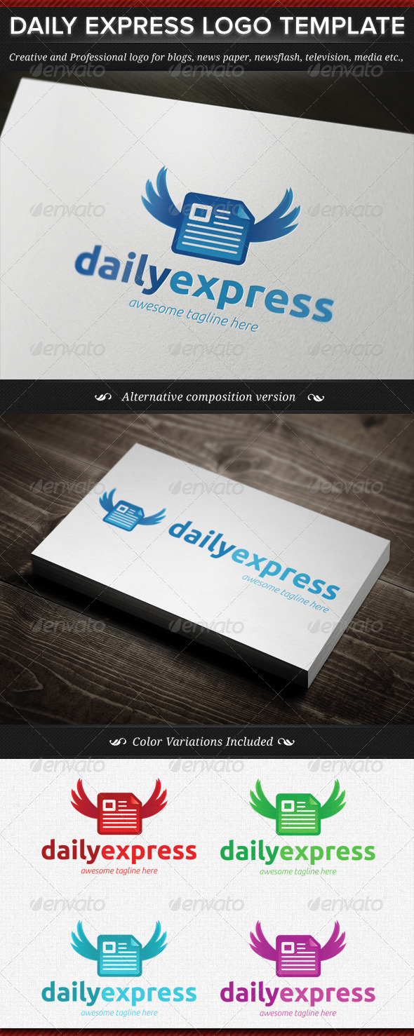 GraphicRiver Daily Express News Logo Template 4549589