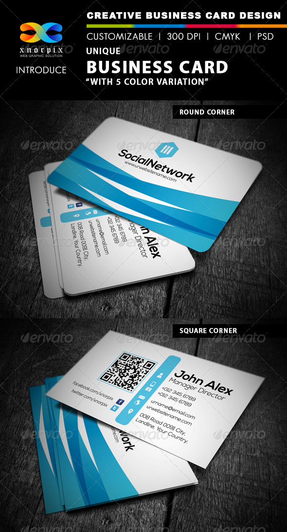GraphicRiver Blue Business Card 4550708