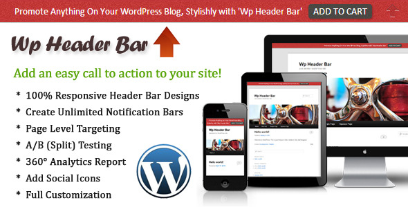 CodeCanyon Wp Header Bar WordPress Notification Bar 4550711