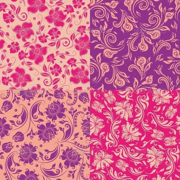GraphicRiver Seamless Floral Pattern 4551225