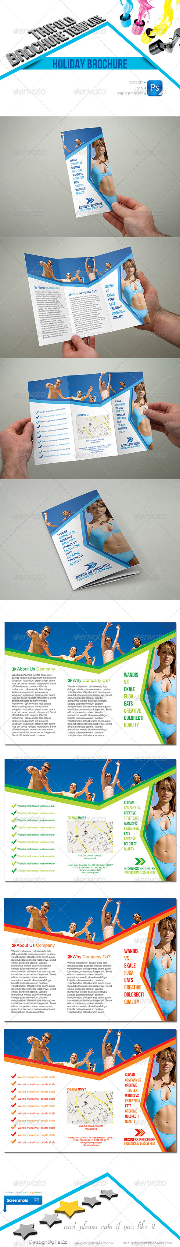 GraphicRiver Holiday Trifold Template 4467960