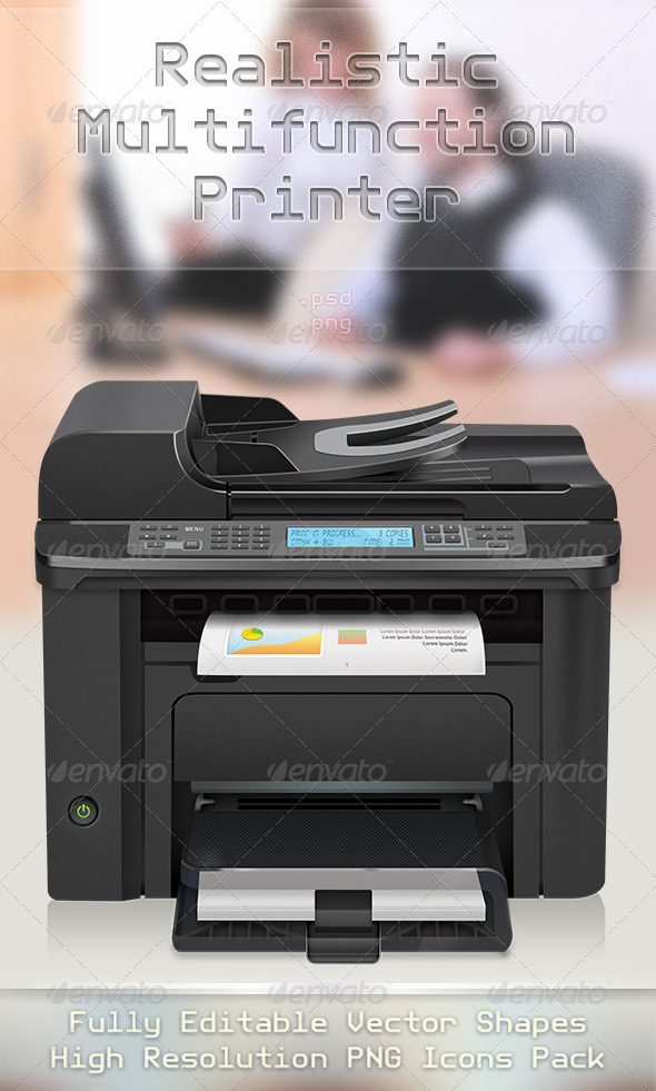 GraphicRiver Realistic Printer Red Project 4551398