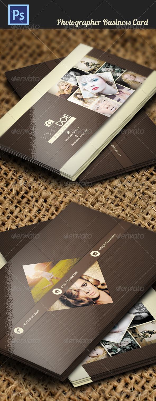 GraphicRiver Photographer Business Card 4468555