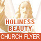 Holiness Beauty Church Flyer Template - GraphicRiver Item for Sale