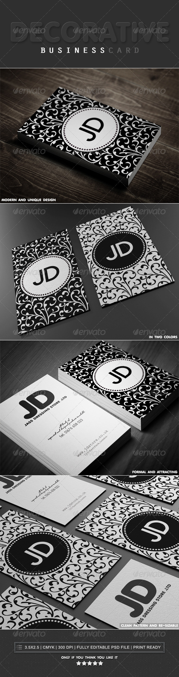 GraphicRiver Decorative Business Cards 4553025