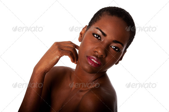 Stock Photo - PhotoDune Beautiful face of African woman with good skin 490788
