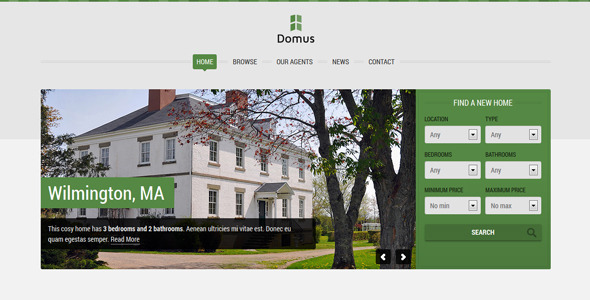 ThemeForest Domus Responsive Real Estate 4553183
