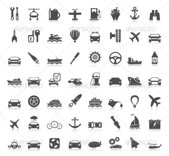 GraphicRiver Transport Icons 6 4554738