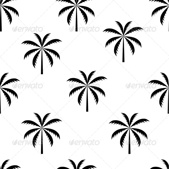 GraphicRiver Palm Tree Seamless Pattern Vector Illustration 4554750