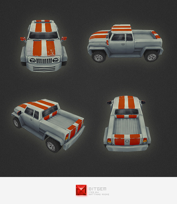 3DOcean Low Poly Car 03 4555180