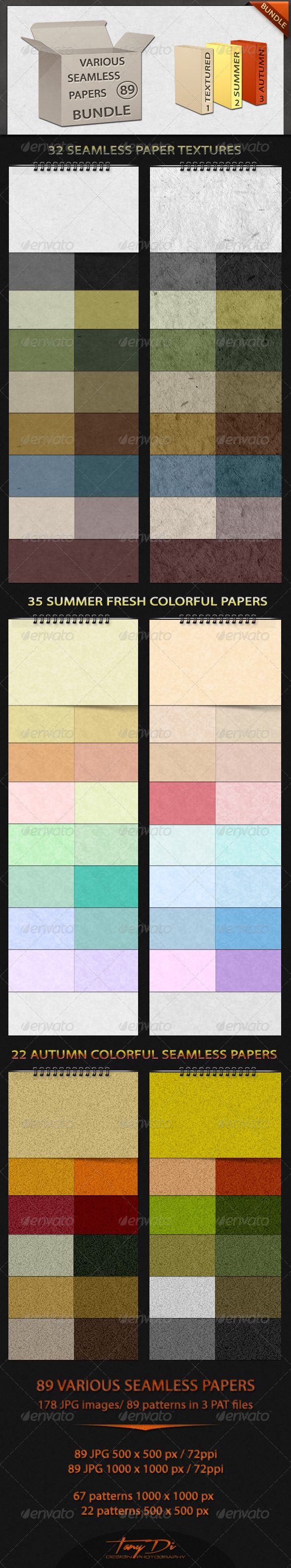 GraphicRiver Various Seamless Papers Bundle 4555284