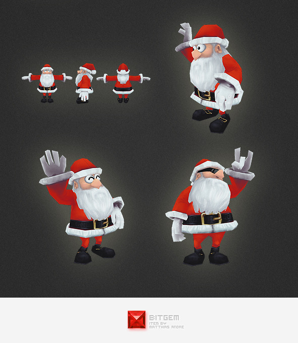 3DOcean Low Poly Santa 4556409