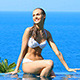 Beautiful Woman in Bikini Enjoy Swimming Pool - VideoHive Item for Sale