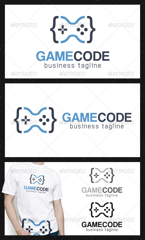 GraphicRiver Game Code Logo Template 4556663