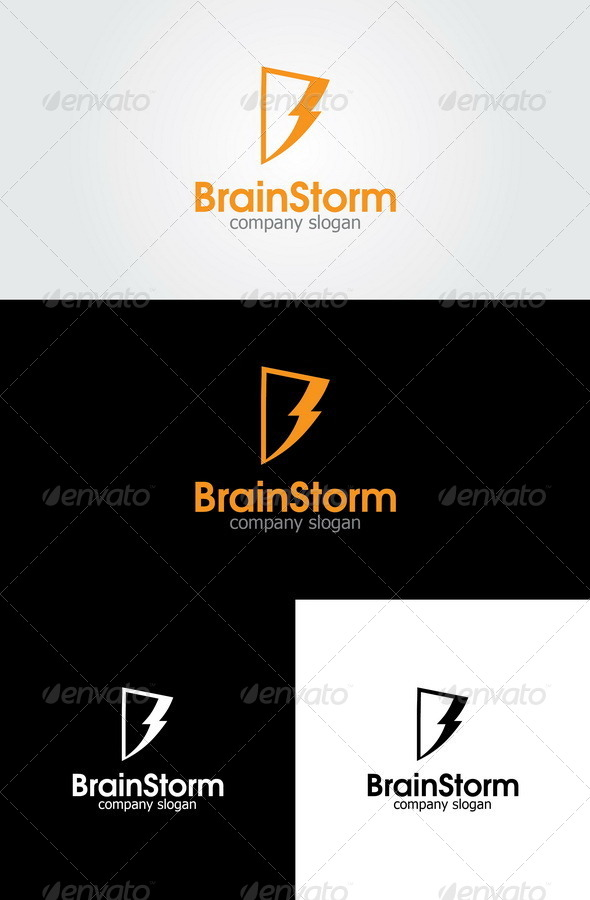 GraphicRiver Brain Storm Letter B Logo 4556843