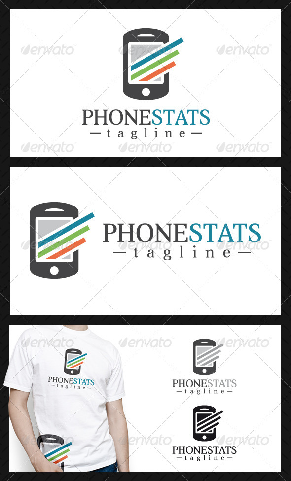 GraphicRiver Phone Stats Logo Template 4557089
